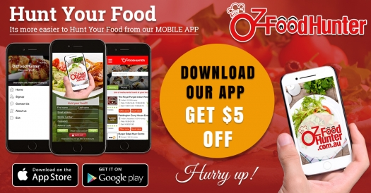 Ozfoodhunter launched mobile app with $5+10% OFF