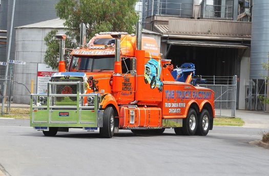 Background of Heavy Duty Tow Truck