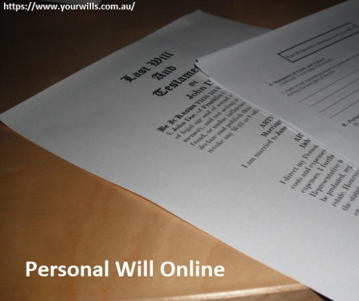 Now Create Your Personal Will Online