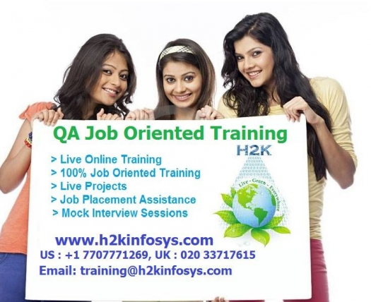 Software(QA)Online Training in USA with 100% Placement