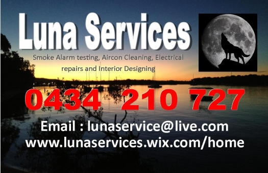 Luna Services Air Conditioning cleaning and Smoke Alarm testing Service