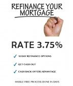 Avail Now! Home Loan Refinancing at a 3.75% rate!