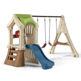 Kids Outdoor Plastic Swing Sets For Toddlers!