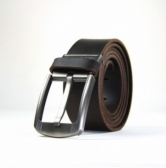 New Trendy Casual Men's Leather Waist Belt Dark Brown