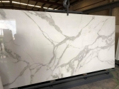 Stylish and Luxurious Marble Tile Splashback in Me