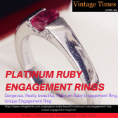 Platinum ruby engagement rings at Vintage Times