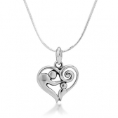 Nickel Heart Photo Pendant
