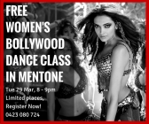 Free Women's Bollywood Dance Class in Mentone