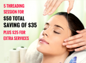 Get 5 Threading Sessions at only $50 : Cheers's June Offer